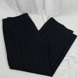 Giorgio Armani Borgo 21 Black stripe wide leg pant